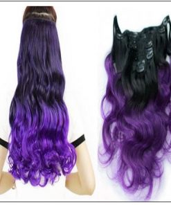Purple Ombre Clip In Hair Extension 2-min