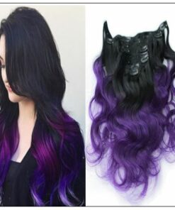 Purple Ombre Clip In Hair Extension img-min