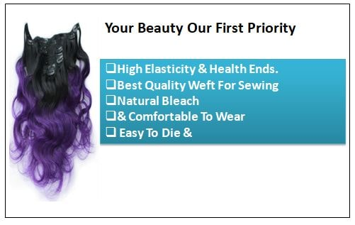 Purple Ombre Clip In Hair Extension-min
