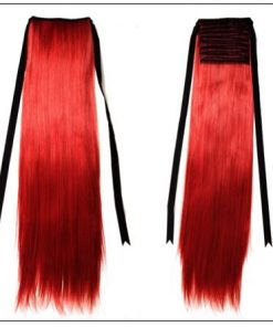 Red Ponytail hair extension 2-min