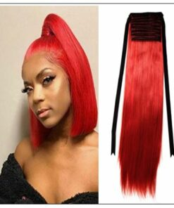 Red Ponytail hair extension img-min