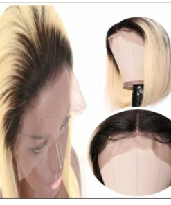 Two Tone Wigs Straight Blonde Lace Front Wig With Dark Roots T1B 613 4-min