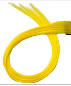 Yellow Clip In Hair Extensions 2-min