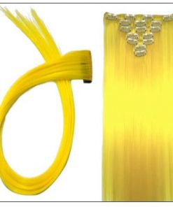 Yellow Clip In Hair Extensions 3-min