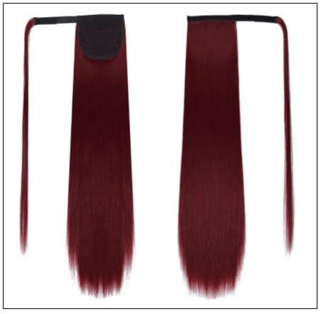 burgundy ponytail extension 2-min