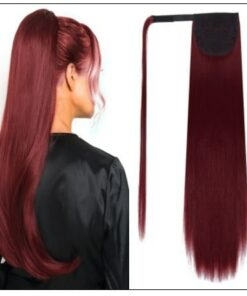 burgundy ponytail extension img-min