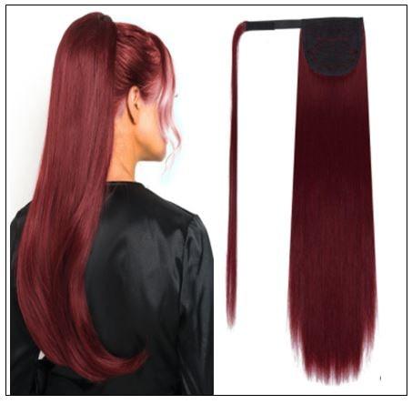 burgundy ponytail extension img-min