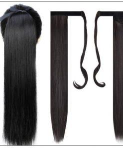 human hair ponytail extension 2-min