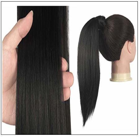 human hair ponytail extension 3-min