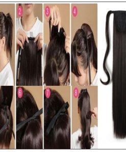 human hair ponytail extension 4-min