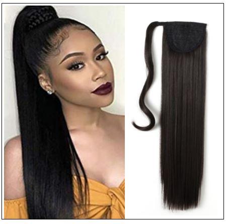 human hair ponytail extension img-min