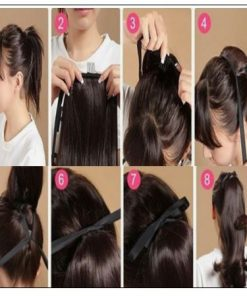 real hair ponytail 4-min