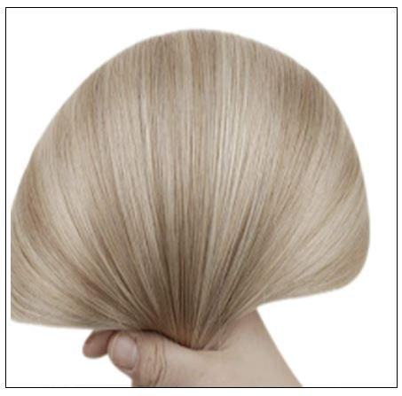 Ash Blonde Highlights Platinum Blonde U Tip Hair Extensions 3-min