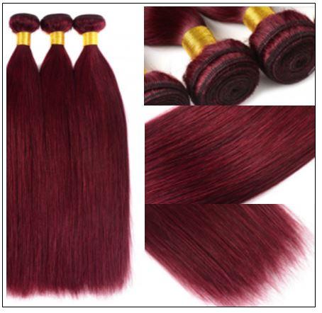 Burgundy Bundles 100% Natural Remy Human Hair 1 (2)