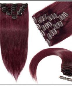 Burgundy Hair Extensions-Nexa hair Best Hair Extensions 3