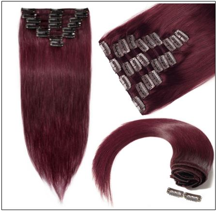 Burgundy Hair Extensions-Nexa hair Best Hair Extensions 3