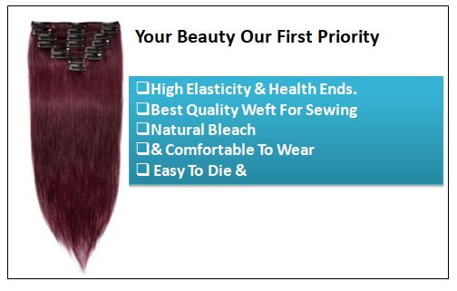 Burgundy Hair Extensions-Nexa hair Best Hair Extensions