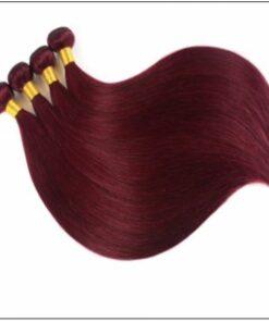 Dye Weave Burgundy 100% Natural Remy Human Hair 2 (2)