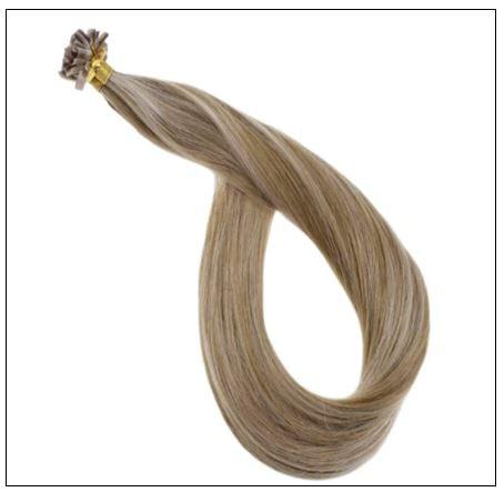 Golden Brown With Golden Blonde Colour U Tip Hair Extension 3-min
