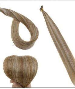 Golden Brown With Golden Blonde Colour U Tip Hair Extension 4-min