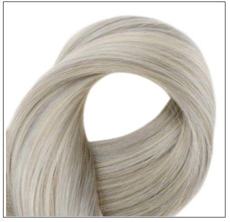 Grey Blonde With Platinum Blonde U Tip Hair Extension 4-min