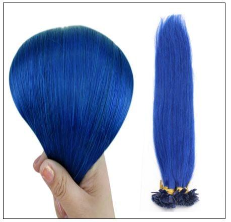 I Tip Hair Keratin Multi-Colors Blue Keratin Human Hair 2-min