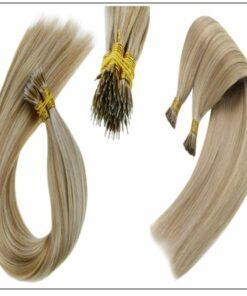 I Tip Light Blonde Highlights Golden Blonde Keratin Human Hair 2-min