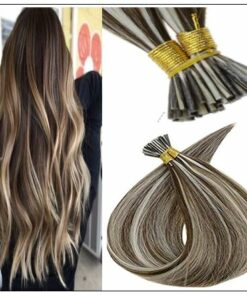 I Tip Piano Color 3P60 Keratin Pre Bonded Hair Extensions img-min