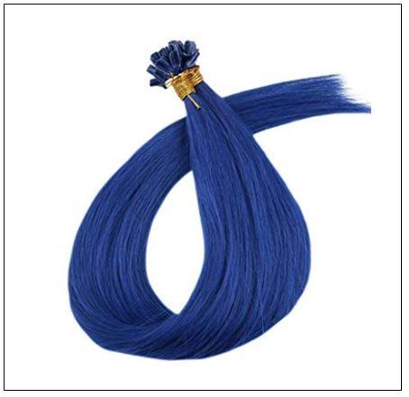 Keratin Hair Blue Color U Tip Hair Extensions 4-min