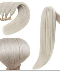 Keratin White Blonde U Tip Hair Extension 2-min