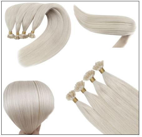 Keratin White Blonde U Tip Hair Extension 3-min