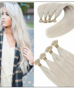 Keratin White Blonde U Tip Hair Extension img-min