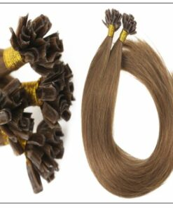 Light Brown U Tip Hair Extensions Human Hair 2-min