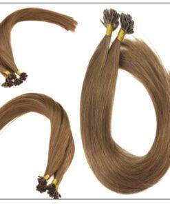 Light Brown U Tip Hair Extensions Human Hair 3-min