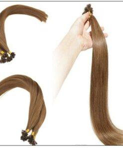 Light Brown U Tip Hair Extensions Human Hair 4-min