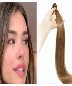 Light Brown U Tip Hair Extensions Human Hair IMG-min
