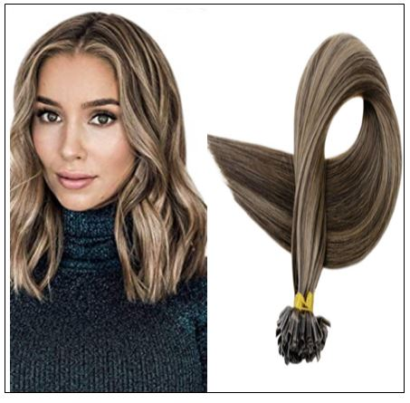 Natural Wave Colour 2P8A Darkest Brown with Light Brown U Tip Hair Extensions IMG-min