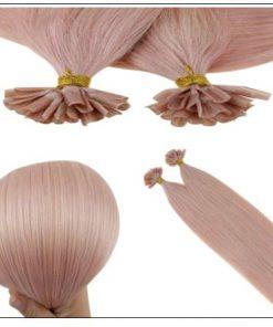 Pink Hair Extensions Keratin Nail Tip Extensions 4-min