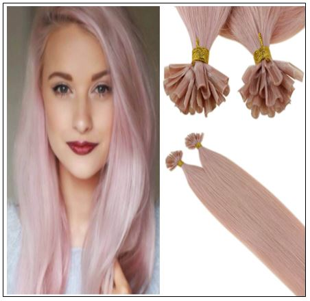 Pink Hair Extensions Keratin Nail Tip Extensions img-min