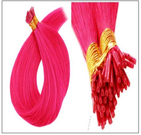 Pink Hair Extensions Natural Hair Extensions With Keratin Real Hair 2-min
