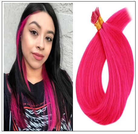 Pink Hair Extensions Natural Hair Extensions With Keratin Real Hair img-min