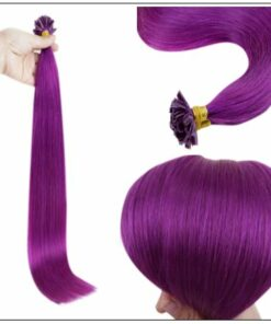 Purple Color U Tip Hair Extensions 2-min