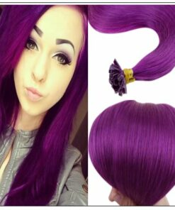 Purple Color U Tip Hair Extensions img-min