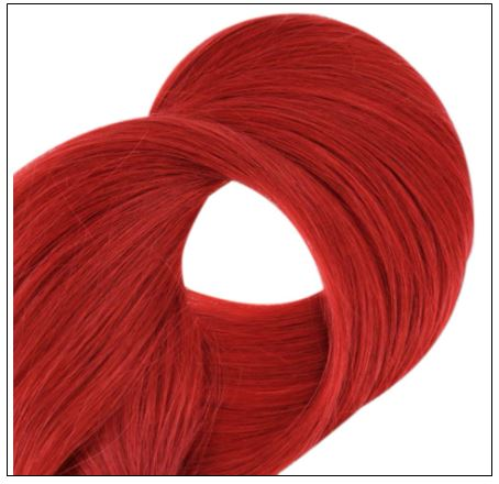 Red Color U Tip Hair Extensions 3-min