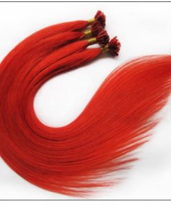 Red Color U Tip Hair Extensions 4-min