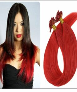 Red Color U Tip Hair Extensions img-min