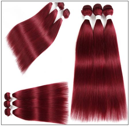 Wine Color Bundles 100% Natural Remy Human Hair 1 (3)
