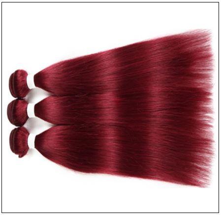Wine Color Bundles 100% Natural Remy Human Hair 1 (4)