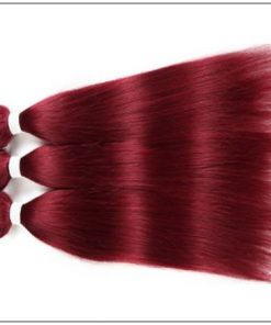burgundy bundles with frontal 2