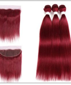 burgundy bundles with frontal 3
